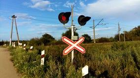 προειδοποίηση τραίνων σημαδιών στοκ εικόνες με δικαίωμα ελεύθερης χρήσης