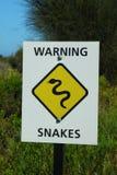 Προειδοποίηση φιδιών Στοκ Φωτογραφίες