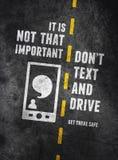 Προειδοποίηση Texting και οδήγησης απεικόνιση αποθεμάτων