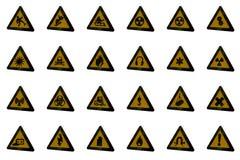 Προειδοποιητικά σημάδια Στοκ Εικόνες