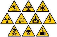 Προειδοποιητικά σημάδια Στοκ εικόνες με δικαίωμα ελεύθερης χρήσης