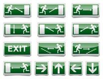 Προειδοποιητικό σημάδι εξόδων κινδύνου Στοκ εικόνες με δικαίωμα ελεύθερης χρήσης