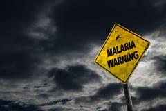 Προειδοποιητικό σημάδι ελονοσίας με το διάστημα αντιγράφων Στοκ Εικόνες