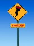 Προειδοποιητικό σημάδι κινδύνου τυφώνα Στοκ εικόνες με δικαίωμα ελεύθερης χρήσης