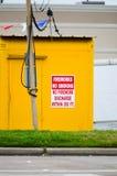 Προειδοποιητικό σημάδι πυροτεχνημάτων Στοκ Φωτογραφία
