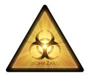 Προειδοποιητικό σημάδι Biohazard   Στοκ Εικόνα