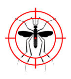 Προειδοποιώντας, απαγορευμένο σημάδι με το κουνούπι με Ιός zika στάσεων Ελονοσία στάσεων Δάγκειος στάσεων Στοκ φωτογραφία με δικαίωμα ελεύθερης χρήσης