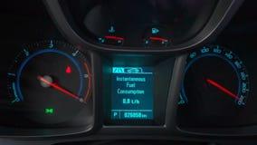 Προειδοποιώντας ελέγχου ελαφρύ και αρχικό αυτοκίνητο μηχανών απόθεμα βίντεο