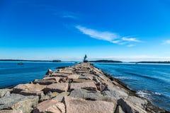 Προεξοχή ελαφρύ Πόρτλαντ Μαίην σημείου άνοιξη Στοκ φωτογραφία με δικαίωμα ελεύθερης χρήσης