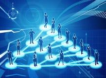 Προερχόμενη από ιό έννοια επιχειρησιακών δικτύων μάρκετινγκ ελεύθερη απεικόνιση δικαιώματος