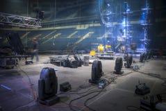 Προετοιμασία για μια συναυλία στοκ εικόνες με δικαίωμα ελεύθερης χρήσης