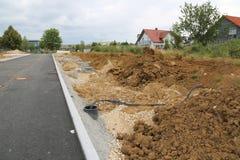 Προετοιμασία για την κατασκευή ενός νέου κατοικημένου χωριού Στοκ Εικόνα