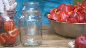 Προετοιμασία για την προετοιμασία του κόκκινου πιπεριού φιλμ μικρού μήκους