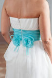 Προετοιμασία και επίδεσμος της νύφης Στοκ Φωτογραφίες