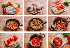 Προετοιμασία συνταγής κοτόπουλου Στοκ Φωτογραφία