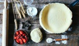 Προετοιμασία της πίτας Στοκ Εικόνες