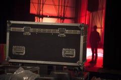 Προετοιμασία της σκηνής για μια συναυλία στοκ εικόνες με δικαίωμα ελεύθερης χρήσης