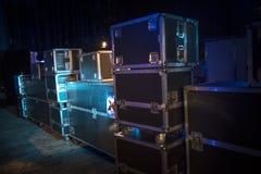 Προετοιμασία της σκηνής για μια συναυλία στοκ εικόνα