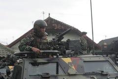 Προετοιμασία του ινδονησιακού εθνικού στρατού στην πόλη σόλο, κεντρική ασφάλεια της Ιάβας Στοκ εικόνα με δικαίωμα ελεύθερης χρήσης