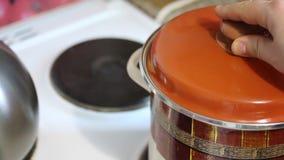 Προετοιμασία του χυμού καρότων απόθεμα βίντεο