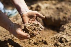 προετοιμασία του χώματο& Στοκ Εικόνες