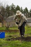 Προετοιμασία των κρεβατιών για τα λαχανικά Στοκ Εικόνα