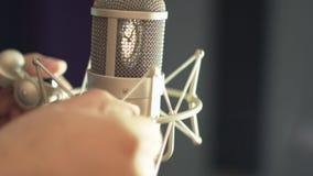 Προετοιμασία Mic για τη φωνητική καταγραφή απόθεμα βίντεο