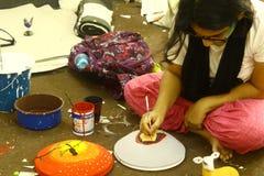 Προετοιμασίες για το βεγγαλικό νέο έτος Pohela Boishakh σε Dhaka Στοκ φωτογραφία με δικαίωμα ελεύθερης χρήσης