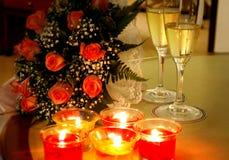 προετοιμασίες ρομαντι&kappa στοκ εικόνες
