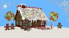 προετοιμασίες σπιτιών διακοπών τοποθέτησης υαλοπινάκων μελοψωμάτων Χριστουγέννων που βάζουν τη γυναίκα δέντρων Στοκ εικόνα με δικαίωμα ελεύθερης χρήσης
