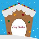 προετοιμασίες σπιτιών διακοπών τοποθέτησης υαλοπινάκων μελοψωμάτων Χριστουγέννων που βάζουν τη γυναίκα δέντρων Στοκ Εικόνες
