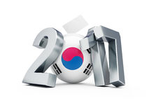 Προεδρικές εκλογές στη Δημοκρατία της Κορέας το 2017 απεικόνιση αποθεμάτων