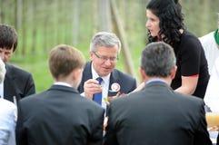Προεδρική εκστρατεία Komorowski Bronislaw Στοκ Φωτογραφία