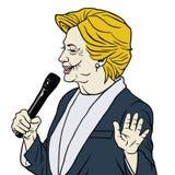 Προεδρική καρικατούρα κινούμενων σχεδίων της Χίλαρι Κλίντον υποψηφίων Στοκ Φωτογραφία