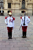 Προεδρική φρουρά, Plaza de Armas, Λίμα, Περού Στοκ φωτογραφία με δικαίωμα ελεύθερης χρήσης