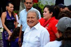 Προεδρικός υποψήφιος Σαλβαδόρ Sanchez Cerén, Ελ Σαλβαδόρ στοκ φωτογραφία με δικαίωμα ελεύθερης χρήσης