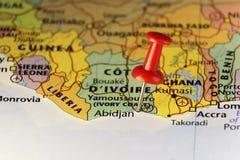 Προηγούμενη πρωτεύουσα του Αμπιτζάν της Ακτής του Ελεφαντοστού διανυσματική απεικόνιση
