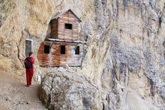 Σπίτι στο δολομίτη Στοκ Φωτογραφίες