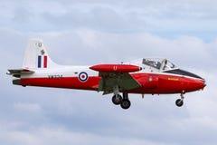 Προηγούμενος αεριωθούμενος κοσμήτορας Τ ΤΣΕ της Royal Air Force RAF 4 αεριωθούμενα αεροσκάφη εκπαιδευτών γ-BWSG XW324 στην προσέγ στοκ εικόνες με δικαίωμα ελεύθερης χρήσης