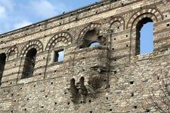 Προηγούμενο βυζαντινό παλάτι στη Ιστανμπούλ χωρίς αποκατάσταση Στοκ εικόνες με δικαίωμα ελεύθερης χρήσης