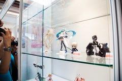 Προθήκη ειδωλίων παιχνιδιών Anime Στοκ Φωτογραφίες