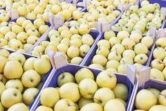 Προθήκη της Apple στην αγορά αγροτών Στοκ Φωτογραφία
