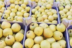Προθήκη της Apple στην αγορά αγροτών Στοκ φωτογραφία με δικαίωμα ελεύθερης χρήσης
