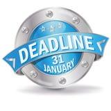 Προθεσμία 31 κουμπιών Ιανουάριος απεικόνιση αποθεμάτων