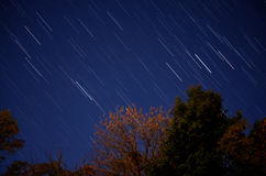 προκαλούμενη φωτογραφική μηχανή γήινη έκθεση μακριά ίχνη αστεριών περιστροφής s μετακίνησης Στοκ εικόνα με δικαίωμα ελεύθερης χρήσης