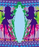 Προκλητικά κορίτσια κομμάτων - πλαίσιο κομμάτων Στοκ εικόνες με δικαίωμα ελεύθερης χρήσης