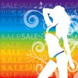 Προκλητικές πωλήσεις κοριτσιών Στοκ Εικόνες
