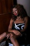 προκλητική γυναίκα αφρο&al Στοκ Εικόνες
