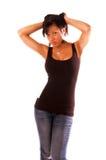 προκλητική γυναίκα αφρο&al Στοκ εικόνες με δικαίωμα ελεύθερης χρήσης