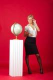 προκλητική γυναίκα δασκά Στοκ φωτογραφία με δικαίωμα ελεύθερης χρήσης